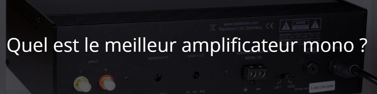 Quel est le meilleur amplificateur mono ?