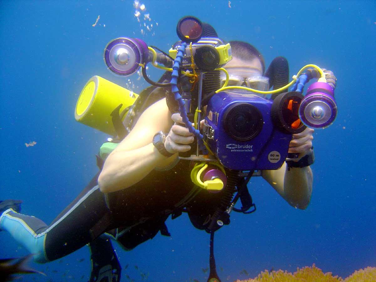 caméra de pêche sous-marine --