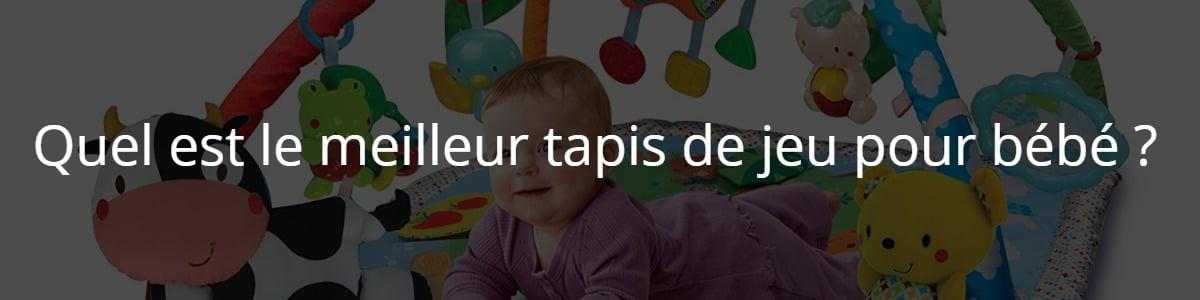 Quel est le meilleur tapis de jeu pour bébé ?