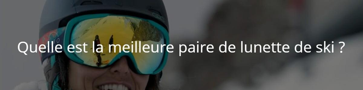 Paire de lunette de ski