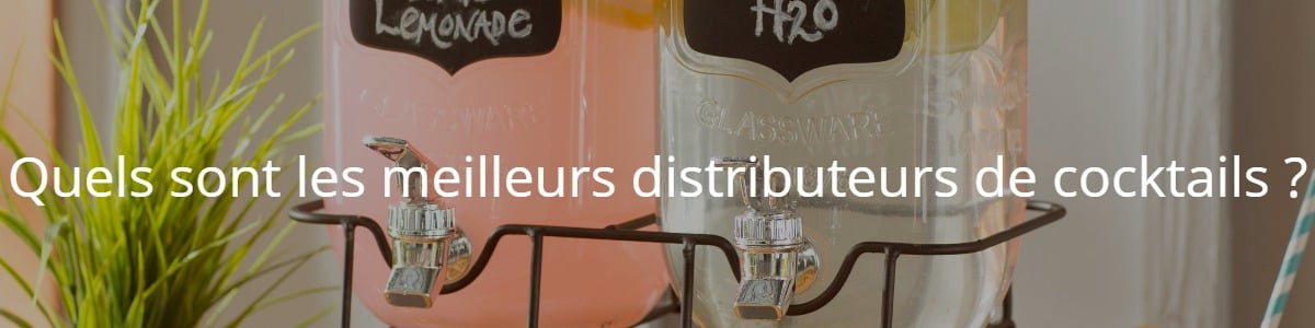 Quels sont les meilleurs distributeurs de cocktails ?
