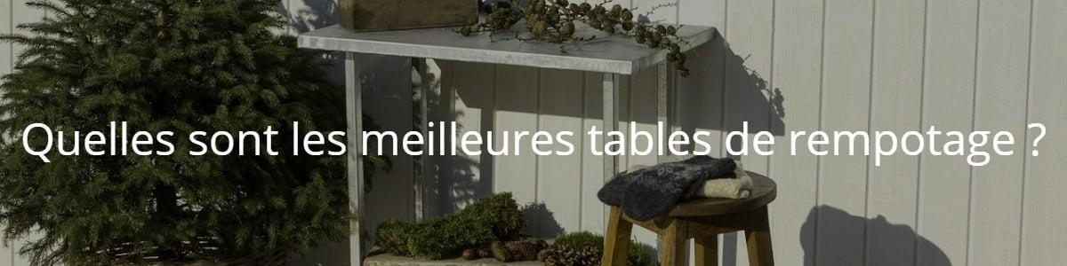 Quelles sont les meilleures tables de rempotage ?